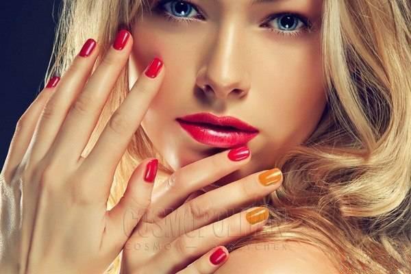 модели с красными ногтями фото порно